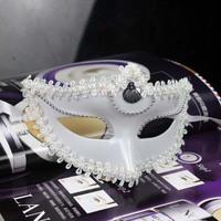 10pcs/Lot White And Black Cardon Mask Half Face Halloween Props Masquerade Party KTV Masks Costume Play Performance Bar Mask
