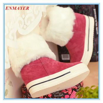 Enmayer BigРазмер34-43 средний-икры снегоступы новый 2015 женщин ботинки мода круглый ...