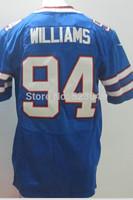 Wholesale&retail 2014 American 94 Mario Williams men's football jerseys,blue Elite shirts in top quality,M-3XL