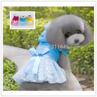 10pieces/Lot Fashion Dog Bubble Skirt  Pet Winter  Jumpsuit Warm Dress  Cute Jacket Halloween Coat  PC14033