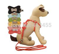 Wholesale 10pcs/lot PU Leather Pet Harness with rhinestones dog bone , dog leashes / leads and dog collars