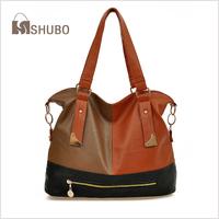 SHUBO Fashion Patchwork Women Shoulder Bags Korean Candy-colored Ladies Casual Handbag Portable Bag SH050