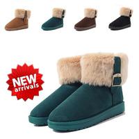 Imitation rabbit fur autumn winter snow boots women  women's warm winter boots ladies ankle shoes wholesale