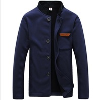 New Arrival down jacket men's single-breasted velvet collar sweater men's sweater casual jacket QZ02