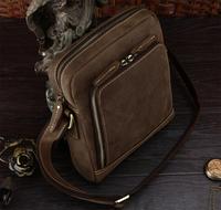 Retro vintage leather satchel bags for men small mens designer shoulder bag TIDING 11143