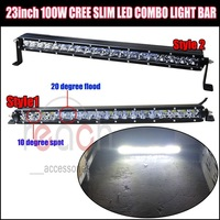 23inch 100W Cree Led Combe Fog Driving Light Lamp Bar SUV Offroad for Jeep UTE