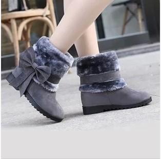[해외]2014 새로운 겨울 모피 여성 스노우 부츠 발목 부츠는 따뜻한..