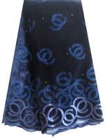 Wholesale fashion sequins velvet fabric/african velvet lace fabric