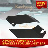 "A pair of New Black Bracket Kit Steel Hood Mount Brackets suit for led light bar 20"" For Jeep Wrangler 07-14 for JK free ship"