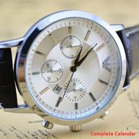 2014 Men's Fashion Sports Wristwatch Newon Quartz Watch AR Series Genuine Leather Strap Analog Calendar Brand Men Watches Hours