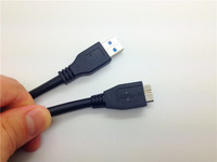 Black High Speed 1FT 0.3m 30cm USB 3.0 Cable Micro USB For samsung galaxy note 3