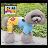 10pcs/Lot  Cute Panada Shapeshifting  Winter Jumpsuit For Dogs Blue Rose Warm Clothes For Pets Fashion Jacket  PC14044