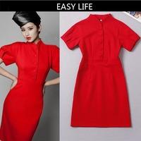 2014 NEW arrive Hight quality Women`s Dress ,Runway Brand Design Dress