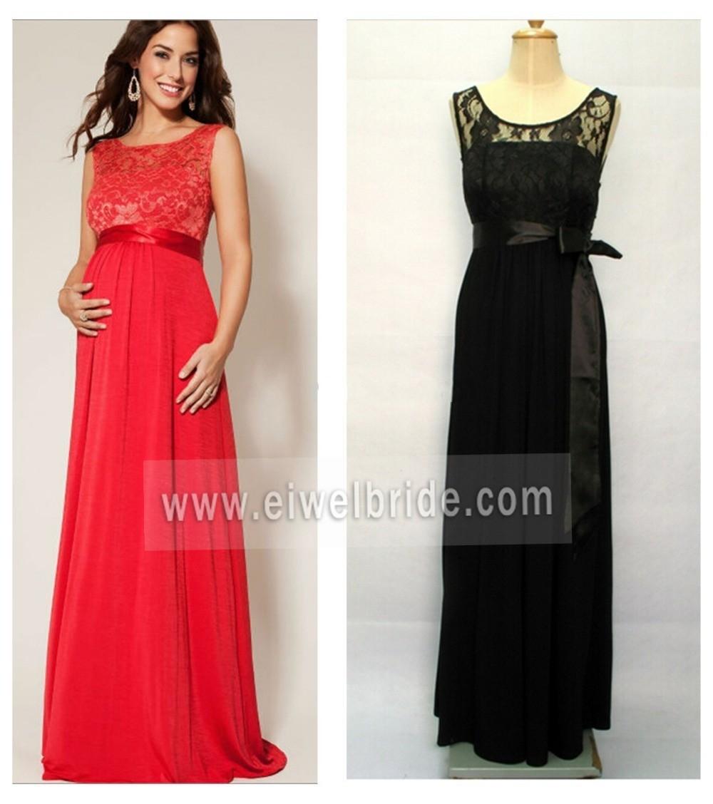 Вечернее красное платье для беременных