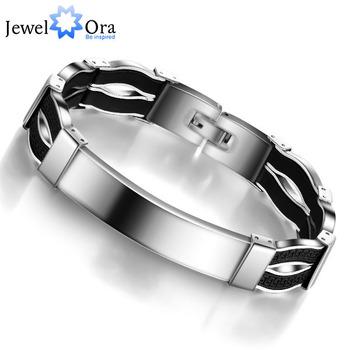 Мода стали человек браслет свободного покроя 304L браслет из нержавеющей стали для ...