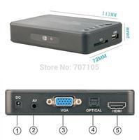 Full Hd 1080P Media Player USB / SD MKV H.264 RM / RMVB AVI