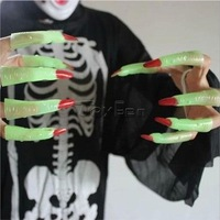 Lot 10x Zombie Fingernails Light in Dark for Masquerade Party Halloween Cosplay Costume Props