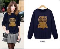 2014 New Arrival Europe and America Fashional Loose Add Wool Joker Fleece Sweatshirt WB093H142502