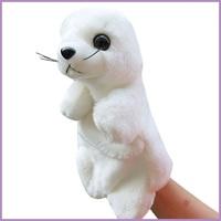 Hot Sell Cute Child Marine Animal Soft Hand Puppet Plush Cotton Large Size White Sea Lion Doll Baby Sleeping Story Toys WJ123