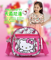 Free shipping 5 pcs/lot 2014 Fashion Shoulder bag Hello Kitty Messenger Bags Girls Small Casual haversack Cartoon Satchel