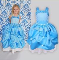2015 Retail Free shipping cartoon dress sofia princess Fluffy dress Condole belt princess Sophia Free shoppingAQZ076