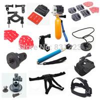 Go pro hero3 13-in-1 gopro accessories mount digital mini cam tripod bag Chest head Floaty pole grip monopod for go pro 3 2 1 3+