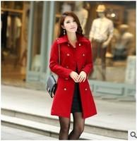 Foreign trade Dongkuan woolen coat windbreaker choke a small chilli Women jackets Women