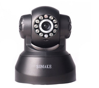free DDNS SOMAKE1.0 MPCMOS 720P Network IPCamera w/ Wi-Fi /LED Standalone Wireless/LAN Camera with Night Vision 0Pan/Tilt Motors