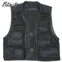 Free drop shipping spring summer multi pocket outdoor fishing hiking vest,men casual sleeveless jacket photo waistcoat WM0016/Z