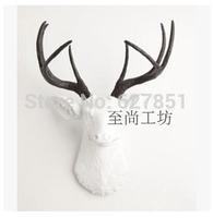 Home decoration animal head wall  deer wall hanging decoration resin craft Christmas