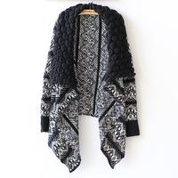 2014New Arrival Women Cardigan Batwing Sleeve Open Stitch Geometric European Style Cardigans Fashion Casual Women Sweater KB138
