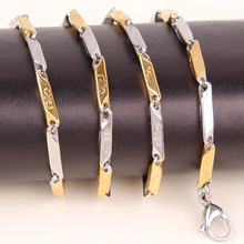 Free shipping 56cm Silver Jewelry 18k Gold silver Filled Links Chain Necklace fashion Men necklace Wholesale