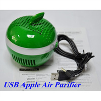 USB Apple Shape Air Purifier Ionizer Air Fresheners Oxygen Bar For PC Laptop Factory Price Dropship