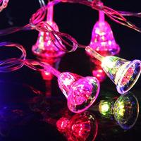 110V or 220~240V 10M 80 LED Lights String Christmas Bell LED Light Party Wedding Blinking Decoration