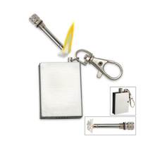 Survival Outdoor Camping Emergency Fire Starter Flint Permanent Metal Match Cigarette Lighter KeyChain