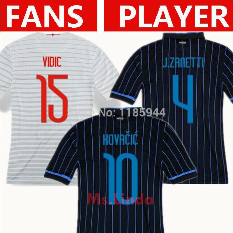 Soccer Jersey INTER MILAN 2015 KOVACIC J.ZANETTI 14 15 INTER MILAN Jersey 14/15 VIDIC Maglia NAGATOMO Home Blue Away White Shirt(China (Mainland))