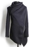 HOT Free Shipping 2014 winter woolen overcoat women fashion trench woolen coat