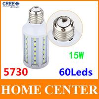 15W 60leds Corn Bulb  E27 Led 220V SMD 5730  Led Lamp Led bulb spotlight  warm white cold white bulb with tracking number