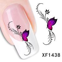 Fashion beautiful DIY Japanese watermark cute pink butterfly 3D Design Tip Nail Art Nail Sticker Nail Decal Manicure nail tools