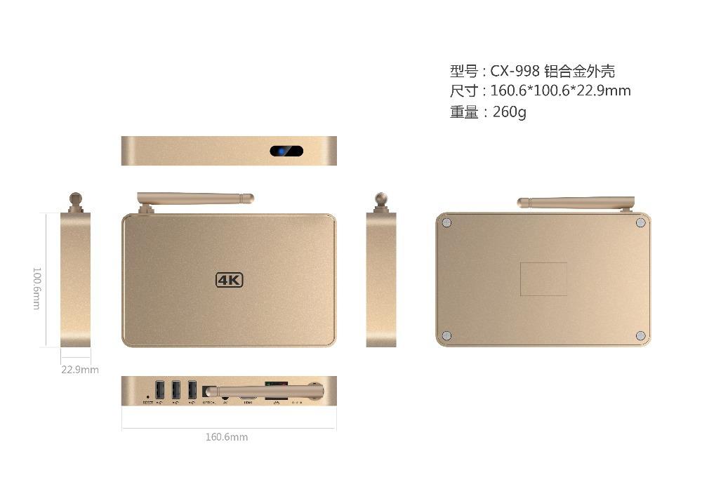 Quad Core Android tv box Smart mini pc RK3288 Android Cortex A17 Mali-T764 GPU 2G/16G,HDMI 2.0,1000M LAN 4Kx2K XBMC Media Player(China (Mainland))