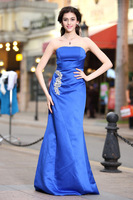 Hot sale Elegant Mermaid Off the shoulder Sleeveless Strapless Taffeta Custom Maid Evening Dress Fashion Party Dress LR0050400