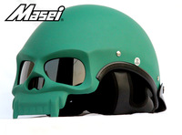 Free shipping Masei 419 motorcycle helmet Fashion cool skull face helmets MOTO scooter half capacete DOT approved 7 colors
