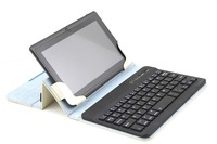"Free Shipping New design Wireless Bluetooth Keyboard PU Leather Case for 7"" 8"" 7 inch 8 inch universal Tablet PC case"