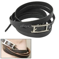 Neutral Style Wrap Around Design PU Leather Bracelet Wristband Wrist Wrap with Needle Buckle