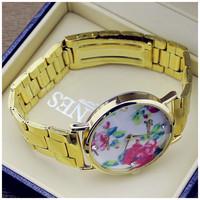 2014 watch gold plated quartz wrist watch men luxury brand Rosra jewelry machine core women dress watch men all steel watches