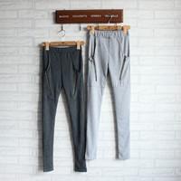 New Ladies Fashion Loose Casual Pants Zipper Hugh Brushed Cotton body Was Thin Leggings