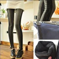 2014 New Fashion Slim Pencil Pants Women Full Length Women Fleece warm pants Trousers/Casual  Women Clothing