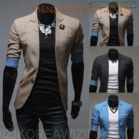 New arrival men suit blazer men coat men's short-sleeve spring multicolor wild little suit jacket free shipping