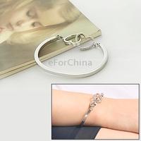 Stylish Double Heart Style Alloy Bracelet