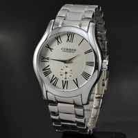 Hot Sale Brand Curren 8061 Men Fashion Casual Watch Roma Dial Analog Quartz Watch Full Steel Watch With Small Seconds